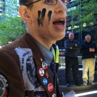 Photo taken at #OCCUPYWALLSTREET by justinstoned on 5/2/2012