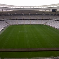 Photo taken at Cape Town Stadium by Noura on 7/6/2012