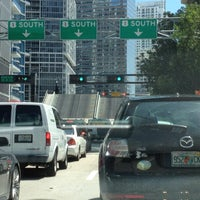 Photo taken at Brickell Ave Bridge by Carlos A on 9/5/2012