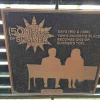 Photo taken at Tom Hansen's Bench (500 Days of Summer) by Kelly T. on 5/12/2012