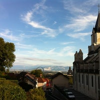 Photo taken at Eglise De Gex by Renaud F. on 8/16/2012