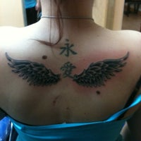 Photo taken at Blue Lotus Tattoo by Lyndsy on 9/9/2012