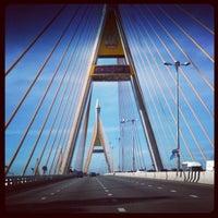Photo taken at Bhumibol 1 Bridge by maximumboy s. on 9/5/2012