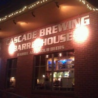 Photo taken at Cascade Brewing Barrel House by Bryan B. on 8/13/2012
