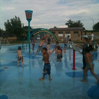 Photo taken at Splash Pad Nelson Park by Jeff W. on 8/8/2012