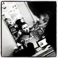 Photo taken at Lucky 3 Barber by X J. on 6/15/2012
