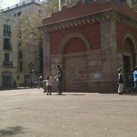 Photo taken at Plaça de la Vila de Gràcia by Tania E. on 3/18/2012
