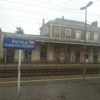 Photo taken at Gare SNCF de Breteuil-Embranchement by Derrick B. on 8/24/2012