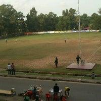 Photo taken at Lapangan Sepak Bola Sei Harapan by Aira C. on 6/3/2012