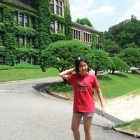 Photo taken at Yonsei University Main Auditorium by Juyoung L. on 8/5/2012