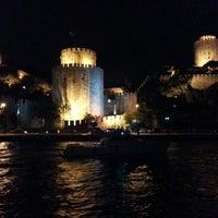 Photo taken at Rumelihisarı Sahili by Barkin C. on 9/9/2012