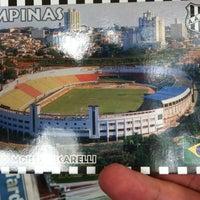 Photo taken at Estádio Moisés Lucarelli by R O B E R T O on 9/2/2012