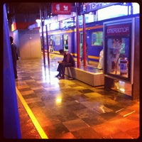 Photo taken at Metro Tepalcates (Línea A) by Ricardo Israel L. on 9/12/2012