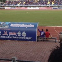 Photo taken at สนามกีฬาจังหวัดพระนครศรีอยุธยา by Nisara K. on 8/1/2012