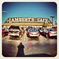 Photo taken at Lambert's Cafe by Stephen K. on 3/31/2012