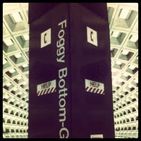 Photo taken at Foggy Bottom-GWU Metro Station by Darren C. on 3/20/2012