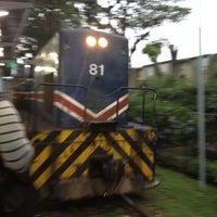 Photo taken at Andén Tren Urbano (Universidad Latina) by Karen J. on 5/24/2012