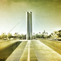 Photo taken at Soleri Bridge & Plaza by ☀ Jelena ✈ on 6/14/2012