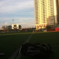 Photo taken at Nickerson Field by Meaghan L. on 4/16/2012