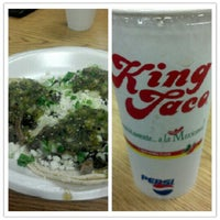 Photo taken at King Taco Restaurant by Joshua M. on 7/22/2012