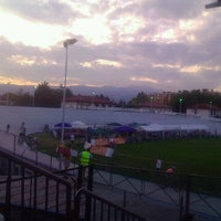 Photo taken at Stadio Atletica Pordenone by Francesco V. on 7/17/2012