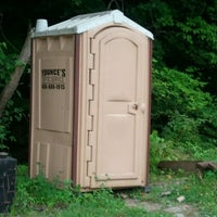 Photo taken at Port-a-potty by Travis C. on 6/11/2012