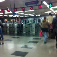 Photo taken at Metro Moncloa by Rebeca M. on 4/13/2012