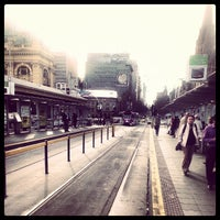 Photo taken at Tram Stop 13 - Federation Square (3/3a/5/6/16/64/67/72) by Abdullah K. on 7/31/2012