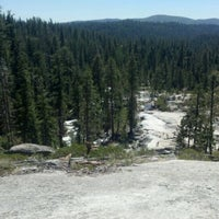 Photo taken at top of bassi falls by Carl M. on 5/20/2012