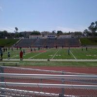 Photo taken at Redondo Union Football Stadium by Maria A. on 9/8/2012