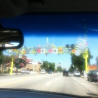 Photo taken at NoHo Sign by Dylan C. on 7/28/2012