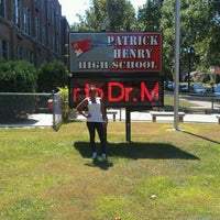 Photo taken at Patrick Henry High School by Raechelle R. on 8/21/2012