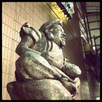 Photo taken at Ebisu Statue by Kazuhiro S. on 6/13/2012
