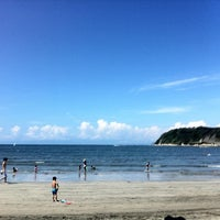 Photo taken at Zushi Beach by Ai S. on 8/31/2012