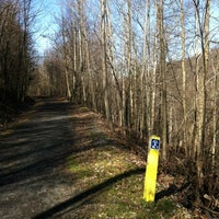 Photo taken at Deckers Creek Rail Trail At Breakiron Hill Rd by Pam S. on 2/3/2012