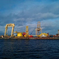 Photo taken at Leith Docks by Andrew K. on 2/25/2012