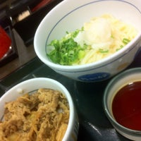 Photo taken at なか卯 なんさん通店 by KRR S. on 8/10/2012
