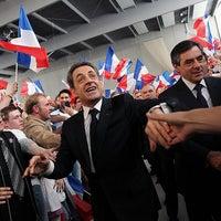 Photo taken at Centre Sportif des Rives de la Thur - Salle Thierry Omeyer by Nicolas Sarkozy on 4/26/2012