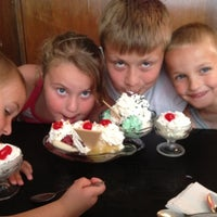 Photo taken at Laubers Old Fashion Ice Cream Palor by Ashley K. on 6/16/2012