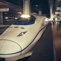 Photo taken at Shanghai Hongqiao Railway Station by Junichiro Y. on 8/28/2012