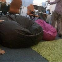 Photo taken at Beanbag Room @ Nuffnang by Caroline N. on 4/30/2012