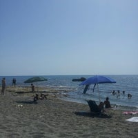 Photo taken at Spiaggia allo Scoglio by Arianna F. on 7/15/2012