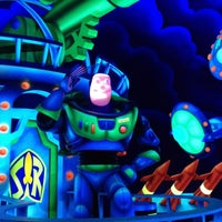 Photo taken at Buzz Lightyear's Space Ranger Spin by iphone c. on 3/4/2012