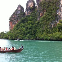 Photo taken at Railay Beach West by JaOe M. on 5/4/2012