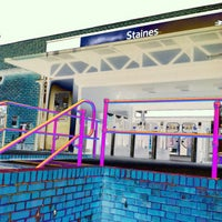 Photo taken at Staines Railway Station (SNS) by Pil S. on 6/6/2012
