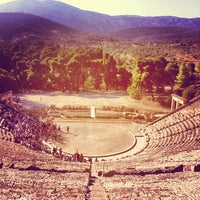 Photo taken at Epidaurus Ancient Theatre by Vasileios G. on 6/9/2012