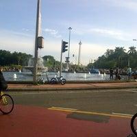 Photo taken at Traffic ligth monas by Dhuha F. on 2/5/2012