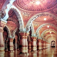Photo taken at Bangalore Palace by Nidhin J. on 3/9/2012