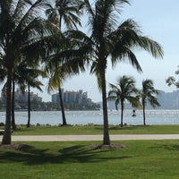 Photo taken at South Pointe Park by Mahir S. on 7/1/2012