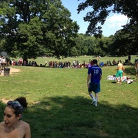 Photo taken at Prospect Park Picnic House by Sean L. on 7/4/2012